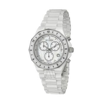 스카겐 C913SWXC 세라믹 여성 시계 $375 → $88