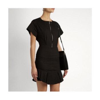 이자벨 마랑 에뚜왈 Neit 지퍼 프론트 러플헴 드레스 $144