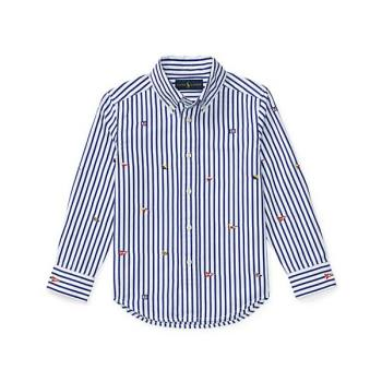 폴로 랄프로렌 보이즈 자수 코튼 셔츠 $55 → $20.99