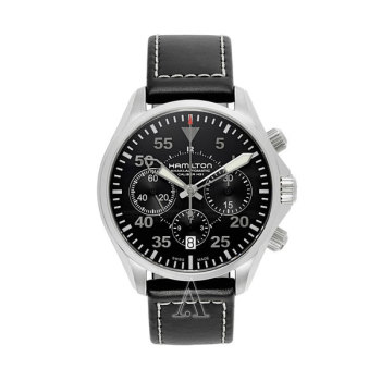 해밀턴H64666735카키 에비에이션 파일럿 오토 크로노 남성 시계 $1,795 → $679