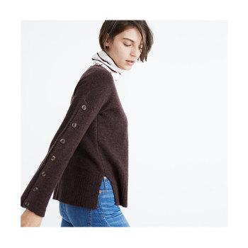 메이드웰 버튼 슬리브 스웨터 $75 → $59.5