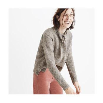 메이드웰 메리노 울 스카프 스웨터 세트 $158 → $99.99