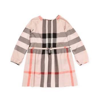 버버리 키즈 크루넥 핑크 드레스 $245 → $190
