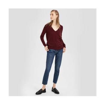 띠어리 캐시미어 V넥 스웨터 다크 커런트 $159 → $79.5
