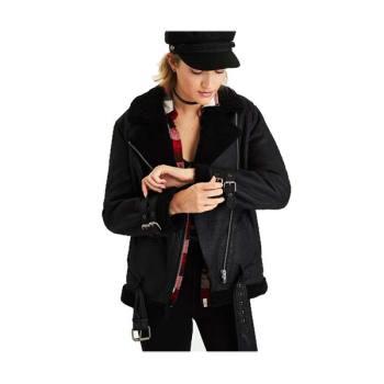 아메리칸 이글 스웨이드 코지 모토 쟈켓 $149.95 → $19.99