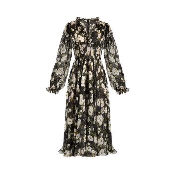 돌체 앤 가바나 플로랄 프린트 러플 드레스 $3,505 → $1,400.8
