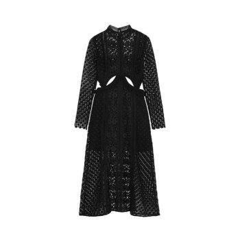 셀프 포트레이트 컷아웃 레이스 미디 드레스 $483→ $117