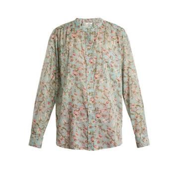 이자벨 마랑 에뚜왈 멕시카 플로랄 코튼 셔츠 $209.4