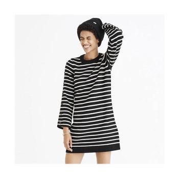 메이드웰 버튼 슬리브 스트라이프 드레스 $118 → $29.99