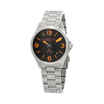 해밀턴 카키 에비에이션 블랙 다이얼 남성 시계 $795 → $475