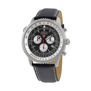 스위스 밀리터리 썬더볼트 블랙 다이얼 남성 시계 $1,595 → $299