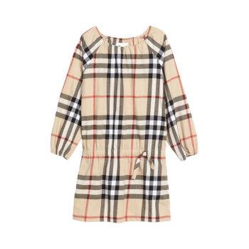 버버리 걸즈 Kadyann 체크 드레스 $245→ $146.98