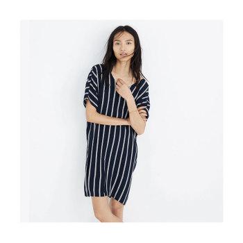 메이드웰 plaza 스트라이프 드레스 $118 → $34.99