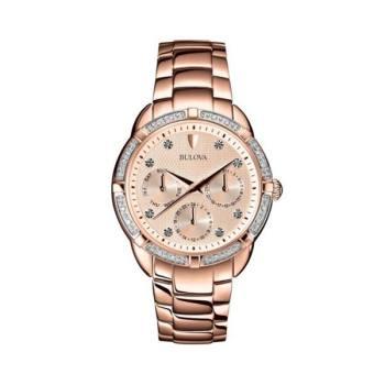 부로바 98W178 로즈골드 크로노그래프 여성 시계 $550 → $129.99