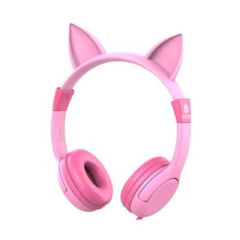 아이클레버 키즈 고양이귀 헤드폰 핑크 $12.34