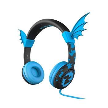 (아마존 최저가) 아이클레버 키즈 박쥐 날개 헤드폰 블루 $5.99