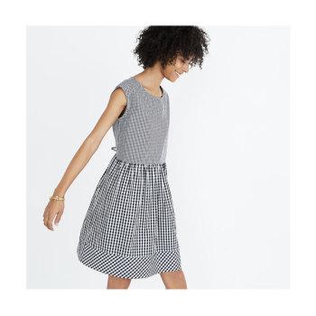 메이드웰 타이 백 깅엄 미니 드레스 $88 → $39.99