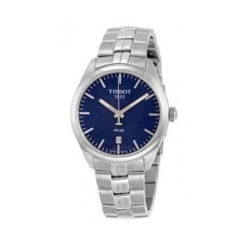 티쏘 PR100 블루다이얼 메탈 남성 시계 $325 → $195