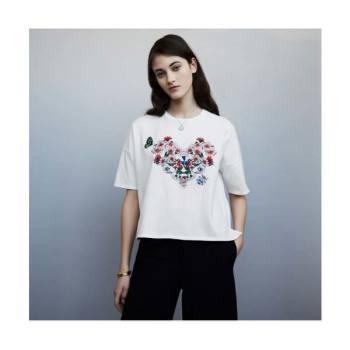 마쥬 꽃 자수 코튼 티셔츠 $165 → $132