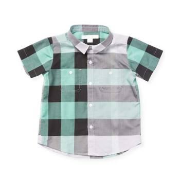 버버리 키즈 체크무늬 반팔 셔츠 $130 → $78.4