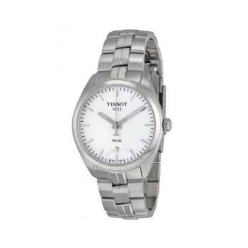 티쏘 PR100 실버 다이얼 스테인리스 남성 시계 $325 → $189