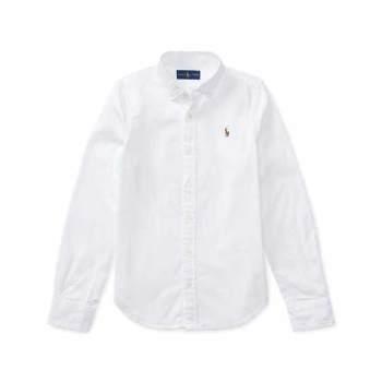 폴로 랄프로렌 걸즈 코튼 옥스포드 셔츠 $45 → $9.99
