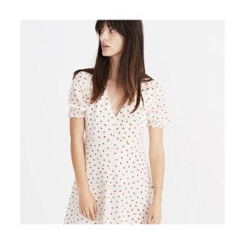메이드웰 딸기 프린트 드레스 $148 → $79.99