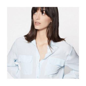 이큅먼트 시그니처 실크 셔츠 쿨 브리즈 $218 → $98.1