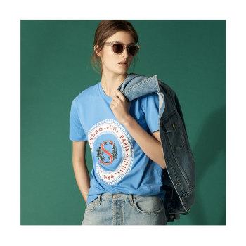 (박민영 착용) 산드로 Clarisse 자수 티셔츠 95유로 → 57유로