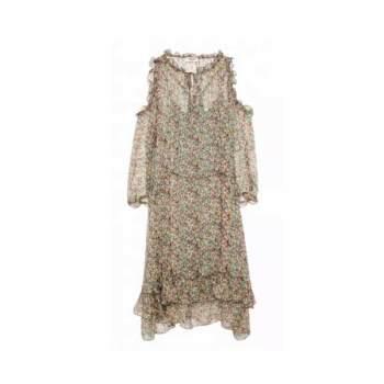 쟈딕 앤 볼테르 리프 프린트 드레스 $478 → $143.4