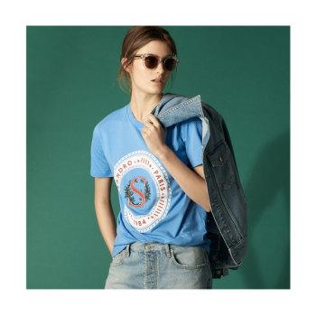 (박민영 착용) 산드로 Clarisse 자수 티셔츠 95유로 → 42.75유로