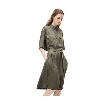 (최화정 착용) 라코스테 벨티드 피케 셔츠 드레스 $195 → $76.99