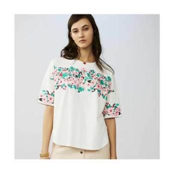 (조보아 착용) 마쥬 TENERIF 오버사이즈 자수 코튼 티셔츠 $180 → $72
