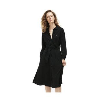 (최화정 착용 긴팔 버전) 라코스테 벨티드 피케 셔츠 드레스 $185