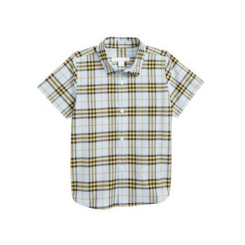 버버리 보이즈 Clarkey 반팔 체크 셔츠 $130→ $77.98