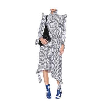 (김정은 착용) 베트멍 로고 프린트 러플 드레스 1,479유로 → 724.5유로