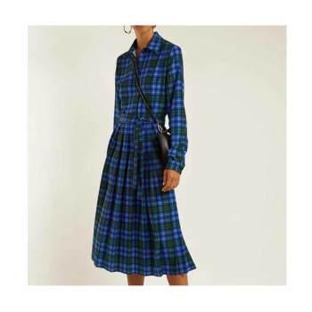 (신혜선 착용) MSGM 체크 미디 드레스 $732 → $658.5