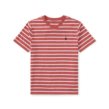 폴로 랄프로렌 빅 보이즈 반팔 스트라이프 브이넥 티셔츠 $29.5 → $9.99