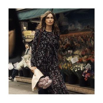 (이나영 착용) 마이클 마이클 코어스 보태니컬 조젯 드레스 $175 → $91.88