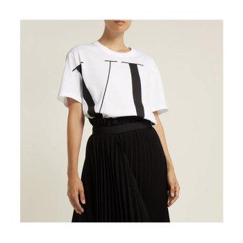 발렌티노 우먼 빅 로고 티셔츠 $427 → $363.5
