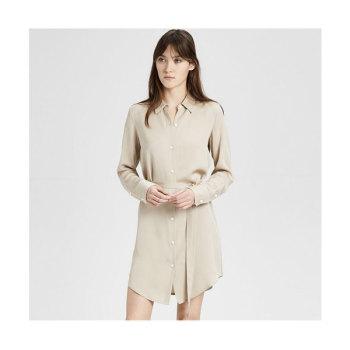 띠어리 실크 셔츠 드레스 $345 → $155.25