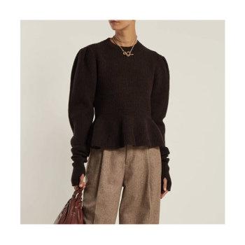 (정려원 착용) 르메르 페플럼 헴라인 스웨터 $650 → $552.5