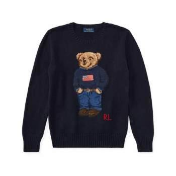 폴로 랄프로렌 빅 보이즈 폴로 베어 코튼 스웨터 $145 → $101.5