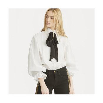 (김태희 착용) 폴로 랄프로렌 러플 소매 코튼 셔츠 $198 → $138.6