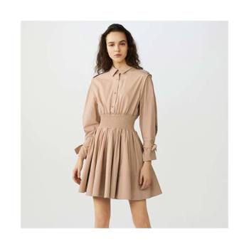 (박시연 착용) 마쥬 SMOCKED 셔츠 드레스 $395 → $158