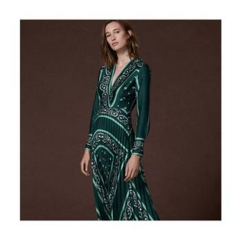 (한혜진,장윤주,한고은 착용) 산드로 롱 플리츠 드레스 295유로