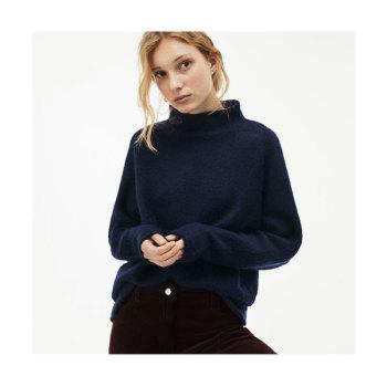 (이엘 착용) 라코스테 우먼 모헤어 혼방 하이넥 스웨터 $106.99