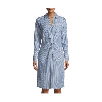 (이지아 착용) 빈스 스트라이프 셔츠 드레스 $395→ $98