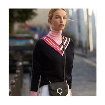 (윤은혜 착용) 산드로 Epeta 크로스오버 스웨터 $250→ $175