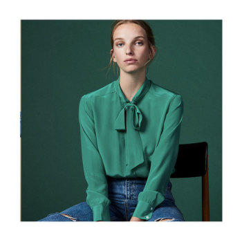 (염정아 착용) 산드로 Ugenia 실크 셔츠 195유로 → 136.5유로